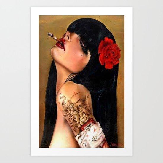 SmokingWMN Art Print