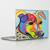 jack russell Laptop & iPad Skins featuring Jack Russell Terrier by EloiseArt