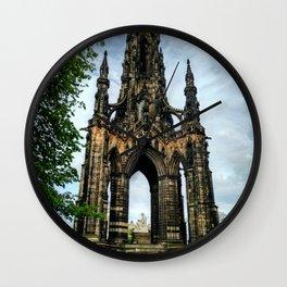 Monument to Walter Scott Wall Clock