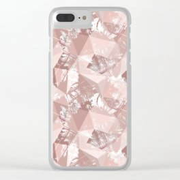 Folded paper under glass. Clear iPhone Case