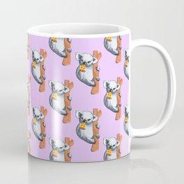 koala eating pizza pattern Coffee Mug