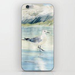 Seagull on the beach iPhone Skin