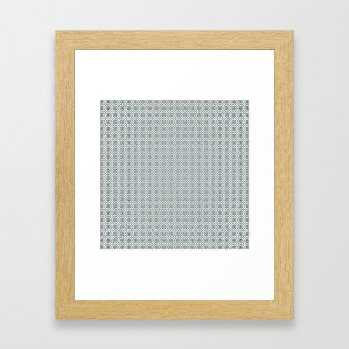 Basket Weave BG mini Framed Art Print