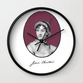 Authors - Jane Austen Wall Clock