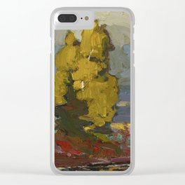 Tom Thomson Poplars by a Lake 1916 Canadian Landscape Artist Clear iPhone Case