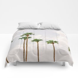 Palm Springs Palm Trees Comforters