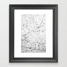 Speckle Marble Print Framed Art Print