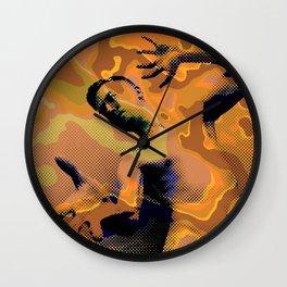 Pop Art Nude Male Dramatic Pose Wall Clock