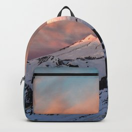 Mount Baker Mountain Adventure Sunset - Nature Photography Backpack