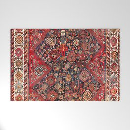 Qashqa'i Fars Southwest Persian Nomad Rug Print Welcome Mat