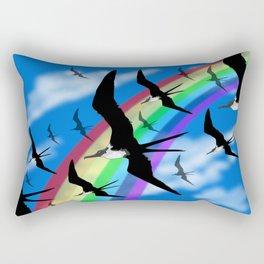 Frigate Birds Flying Rectangular Pillow