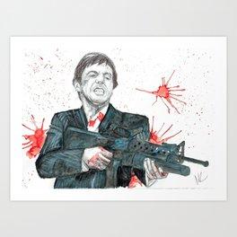 Scarface Art Print