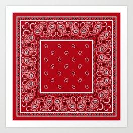 Classic Red Bandana Art Print