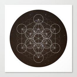 Metatrons Cube Is Out Of Space Canvas Print