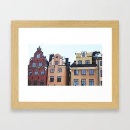 Houses Framed Art Print