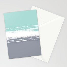 Pastel Color Blocks - Teal & Petroleum Stationery Cards