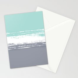 Pastel Color Blocks - Teal & Petroleum Stationery Cards