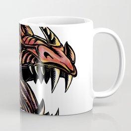 Angry Dragon Head Scratchboard Coffee Mug