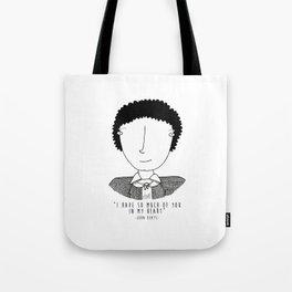 Literary Love: John Keats Tote Bag