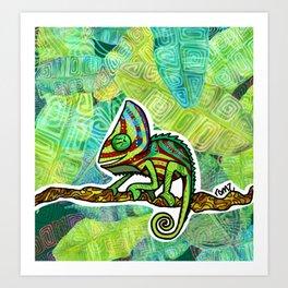 Chamaleon Pattern Art Print
