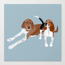 Chloe and Wrigley Canvas Print