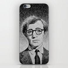 Woody Allen portrait iPhone & iPod Skin