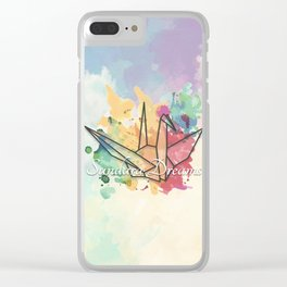 Sundara Dreams with Clouds Clear iPhone Case