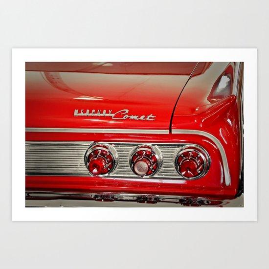 1963 Mercury Comet Red Art Print