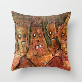 Zombies in a Red Dawn Apocalypse Throw Pillow