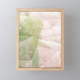 Frozen Geometry - Pink & Green Framed Mini Art Print