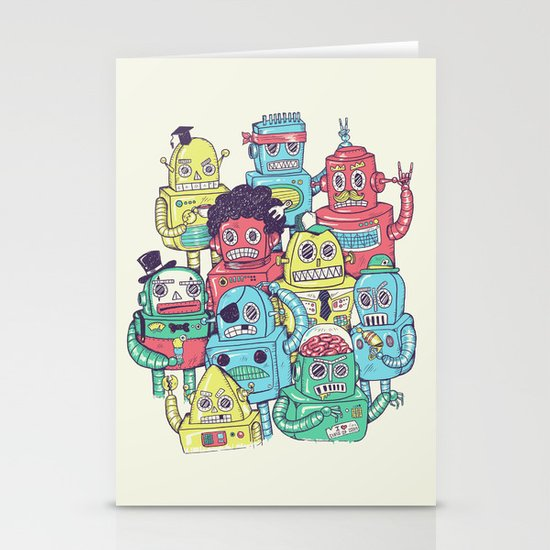 Robot's can't Smile Stationery Cards
