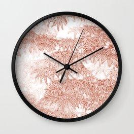 Momiji Pattern Wall Clock