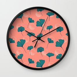 Bright Ginkgo & Dots #society6 #decor #buyart Wall Clock