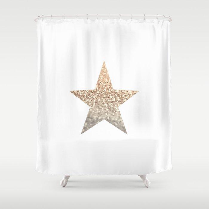 GOLD STAR Shower Curtain by monikastrigel | Society6