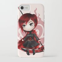 rwby iPhone & iPod Cases featuring Ruby by Louiology