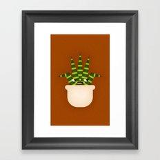 Tiger Plant Framed Art Print
