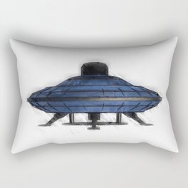 Retro UFO Rectangular Pillow