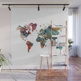 Map of the World triangle Wall Mural