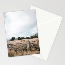 Wheat field in Scotland Stationery Cards