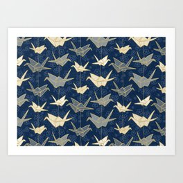 Sadako's Good Luck Cranes Art Print