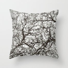 Winter Hunter Camouflage Throw Pillow