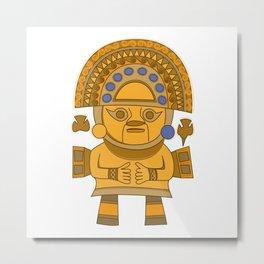 Inca Sun God Metal Print
