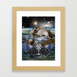 Forest moon Framed Art Print