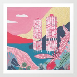 Marina City - Chicago - Modernist Architectur Art Print