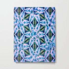 Geometric pattern in purple and blue Metal Print