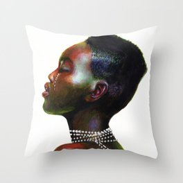 White pearls Throw Pillow