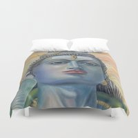 shiva Duvet Covers featuring Lord Shiva by Anastasia Fomina
