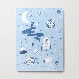 The Milky Milky Way - Space Metal Print