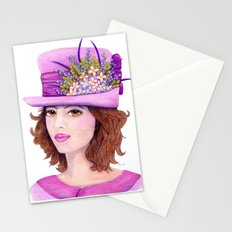 Doe-Eyed Girl by Jane Purcell Stationery Cards