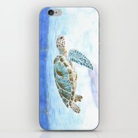 sea turtle iPhone & iPod Skins featuring Sea turtle by Savousepate